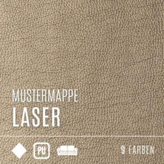 Kunstleder Mustermappe - Kollektion Laser